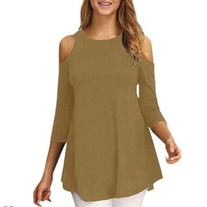 Taupe women's blouse